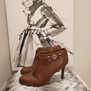 Coach Salene Leather Brown Booties